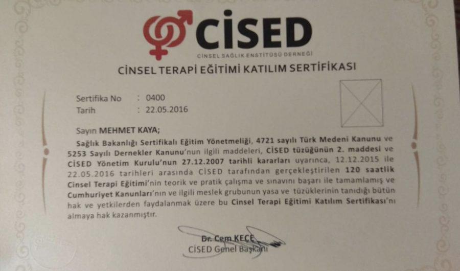 Cinsel Terapi Eğitimi Katılım Sertifikası e1590602751316